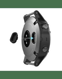 Tapa protectora para puerto de carga Garmin Fenix 5/ Vivoactive3/ Forerunner 935/ 945. Negra