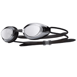 Lentes de natación blackhawk Racing MIrrored black/silver-metal, Tyr