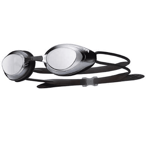 Lentes de natación blackhawk Racing MIrrored black/silver-metal, Tyr