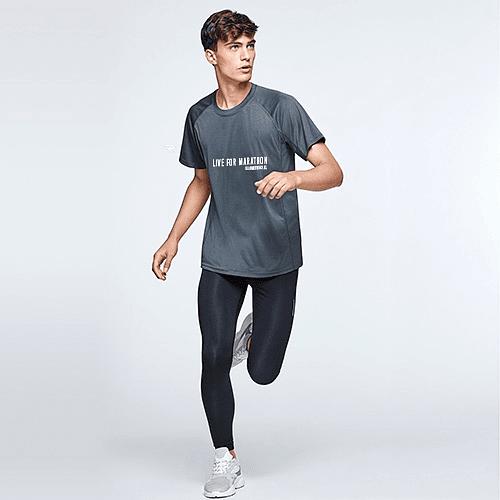 Polera técnica  hombre Marathon Trainning negra