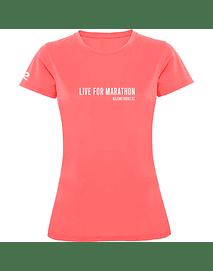 Polera técnica mujer Marathon Trainning rosada