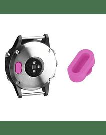 Tapa protectora para puerto de carga Garmin Fenix 5/ Vivoactive3/ Forerunner 935/ 945. Rosa