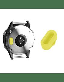Tapa protectora para puerto de carga Garmin Fenix 5/ Vivoactive3/ Forerunner 935/ 945, Amarillo