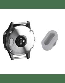 Tapa protectora para puerto de carga Garmin Fenix 5/ Vivoactive3/ Forerunner 935/ 945. Gris