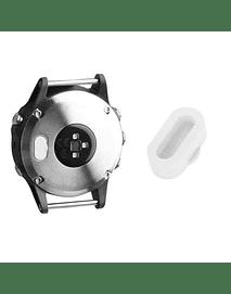 Tapa protectora para puerto de carga Garmin Fenix 5/ Vivoactive3/ Forerunner 935/ 945. Blanca
