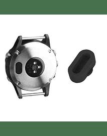 Tapa protectora de polvo para puerto de carga (negra)