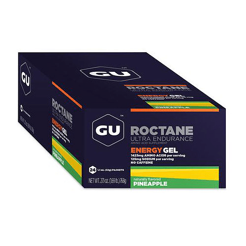 Energy Gel ROCTANE Pineapple sin cafeína (24 unid), GU