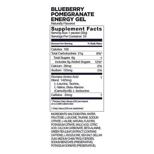 Energy Gel ROCTANE Blueberry Pomegranate (24 unid), GU