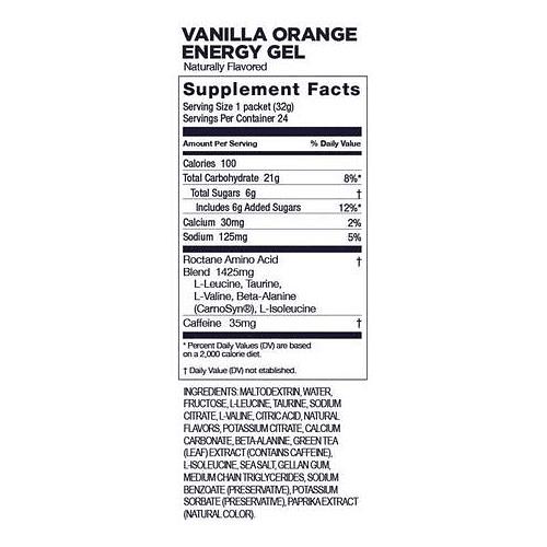 Energy Gel ROCTANE Vainilla Orange (24 unid), GU