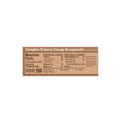 Energy STROOPWAFEL Campfire S´Mores (16 unid), GU