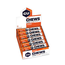 Gomitas Chews Sabor Naranja (18 unid) sin cafeína, GU