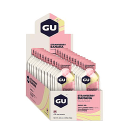 Energy Gel sin cafeína Strawberry Banana (24 unid), GU