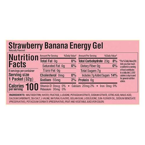 Energy Gel sin cafeína Strawberry Banana (24 unid), GU