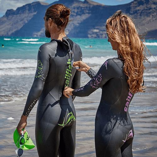 Traje natación neopreno Vibrant mujer, Sailfish