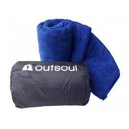 Toalla de Microfibra Atacama XL Azul, Outsoul