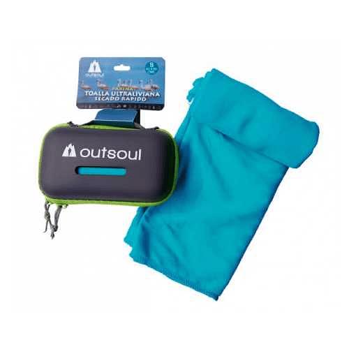 Toalla de Microfibra Parina S Azul, Outsoul