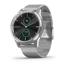 Vívomove Luxe Silver Stainless Steel Milanese Band, Garmin