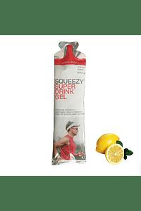 SUPÈR DRINK GEL limón BOX 12 unid. (con cafeína), SQUEEZY