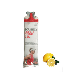 SUPÈR DRINK GEL limón (con cafeína), SQUEEZY