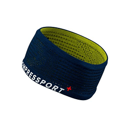 Nuevo Headband On/Off Azul/Lima, Compressport
