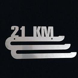 """Medallero acero inoxidable """"21K"""""""