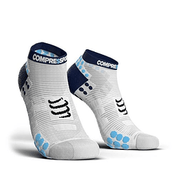 PRORACING SOCKS V3.0 - RUN LOW BLANCO, COMPRESSPORT