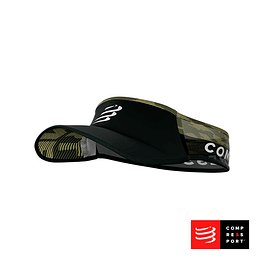 Nueva visera Ultralight Negra/Camo, Compressport