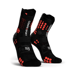 Pro Racing Socks Trail V3 Negro/Rojo, Compressport