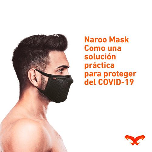 Fu+ Mascarilla deportiva filtrante lavable, Naroo
