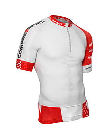 T3 Aero top Blanco/Rojo, Compressport
