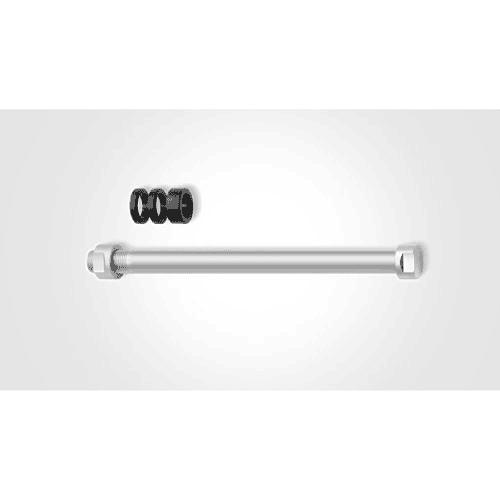 Eje E-Thru para rodillos de entrenamiento 12 mm x 1, con rosca métrica fina, Tacx