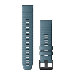 Correa QuickFit Silicona Gris Azulado 22mm (Fenix 5/ 6/ FR 935/945/ Instinct), Garmin