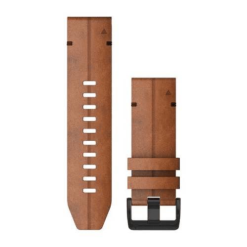 Correa QuickFit Cuero Chestnut 26mm ( Fenix 5X/6X), Garmin