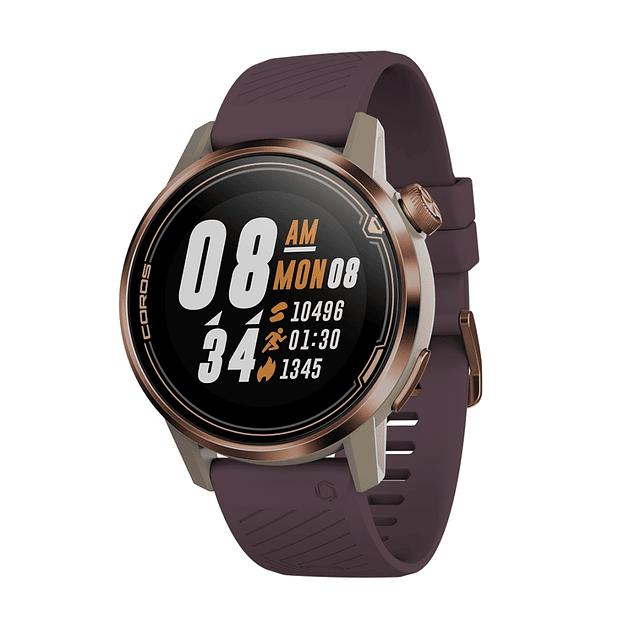 Smartwatch Coros APEX - Reloj Multisport con batería ultra duradera   Monitor de frecuencia cardíaca   Barómetro, Altímetro, Brújula   Conexiones ANT + y BLE    Cerámica / Titanio
