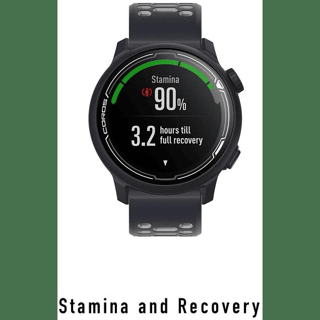 Coros PACE 2 - Reloj deportivo con GPS con correa de nailon o silicona, monitor de frecuencia cardíaca, batería GPS completa de 30 h, barómetro, conexiones ANT + y BLE, Strava, Stryd y TPeak.
