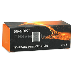 Smok TFV8 Baby Pyrex Glass Tube 2ml/3ml 3pcs