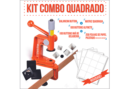 Kit Combo Quadrado 50 x 50 mm