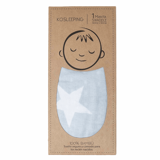 Swaddle bambú gris