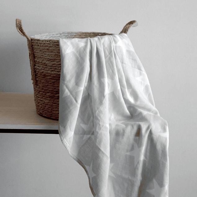 Swaddle bambú gris