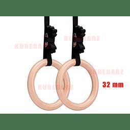 Anillas de Madera - (Modelo Importado) 32mm