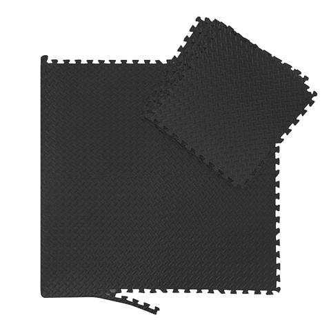Set Tatami 60 × 60 cm Eva Negro - 4 piezas