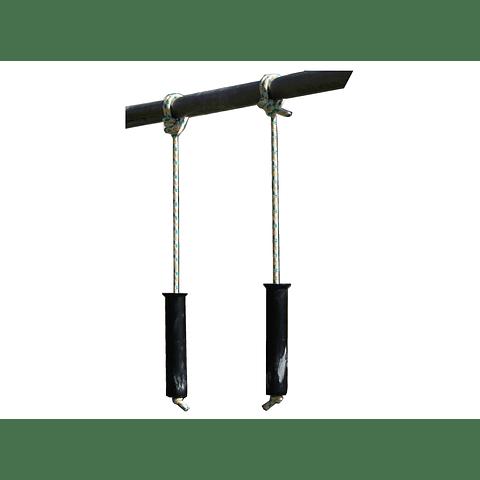 Barras o Puños Verticales con Cuerda - Agarre de Entrenamiento