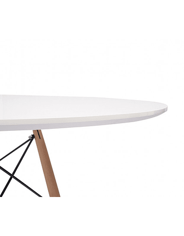 Comedor circular estilo Eames 100 cms + 4 Sillas Eames DSW colores a elección