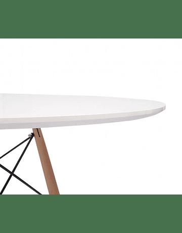 Comedor circular estilo Eames 80 cms + 4 Sillas Eames DSW colores a elección