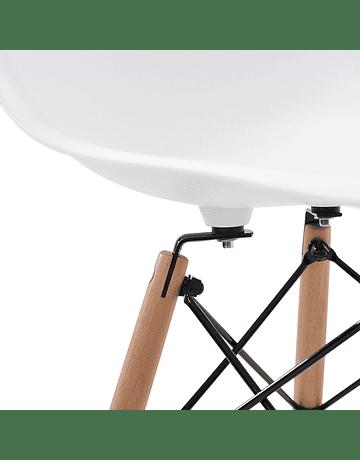 Juego de Comedor Eames Mesa 120 x 80 cms pata pinza + 6 Sillas Eames DSW colores a eleccion
