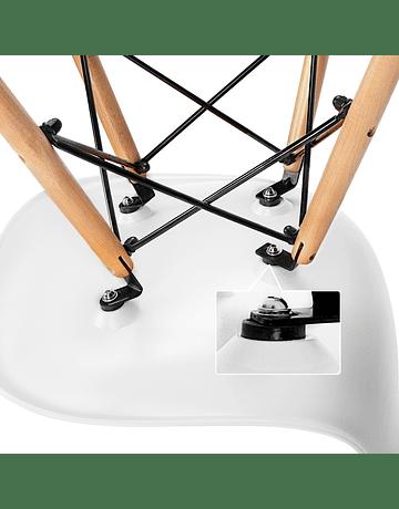Juego de Comedor Eames Mesa 120 x 80 cms pata pinza + 4 Sillas Eames DSW colores a eleccion