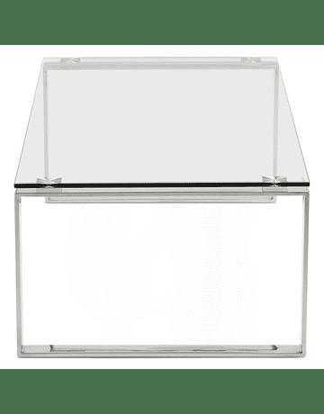 Mesa centro de vidrio templado y acero inoxidable Betty