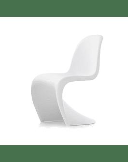 Silla estilo Panton de Verner en color blanco