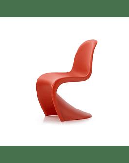 Silla estilo Panton de Verner en color Rojo