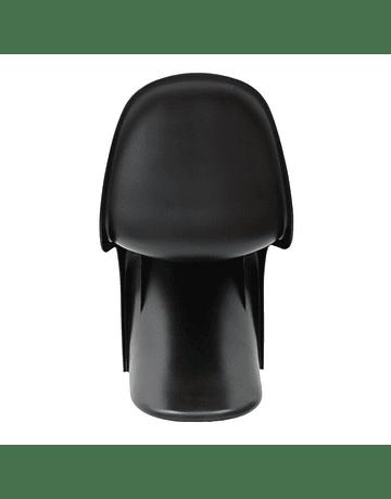 Silla estilo Panton de Verner en color Negro